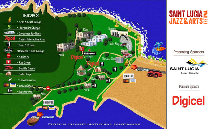 Pigeon Island National Landmark Map