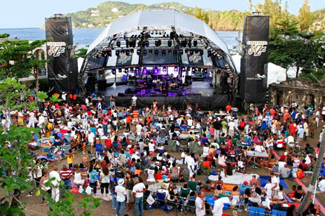 Saint Lucia Jazz seating view